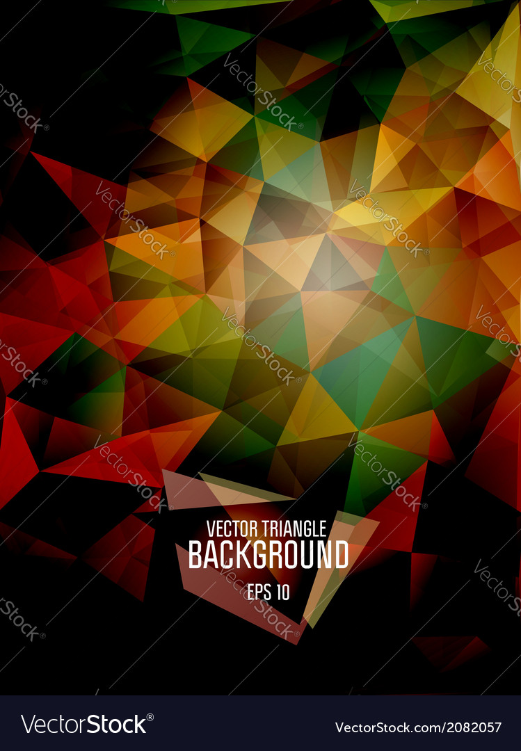 Abstract triangle background for design - ep vector | Price: 1 Credit (USD $1)