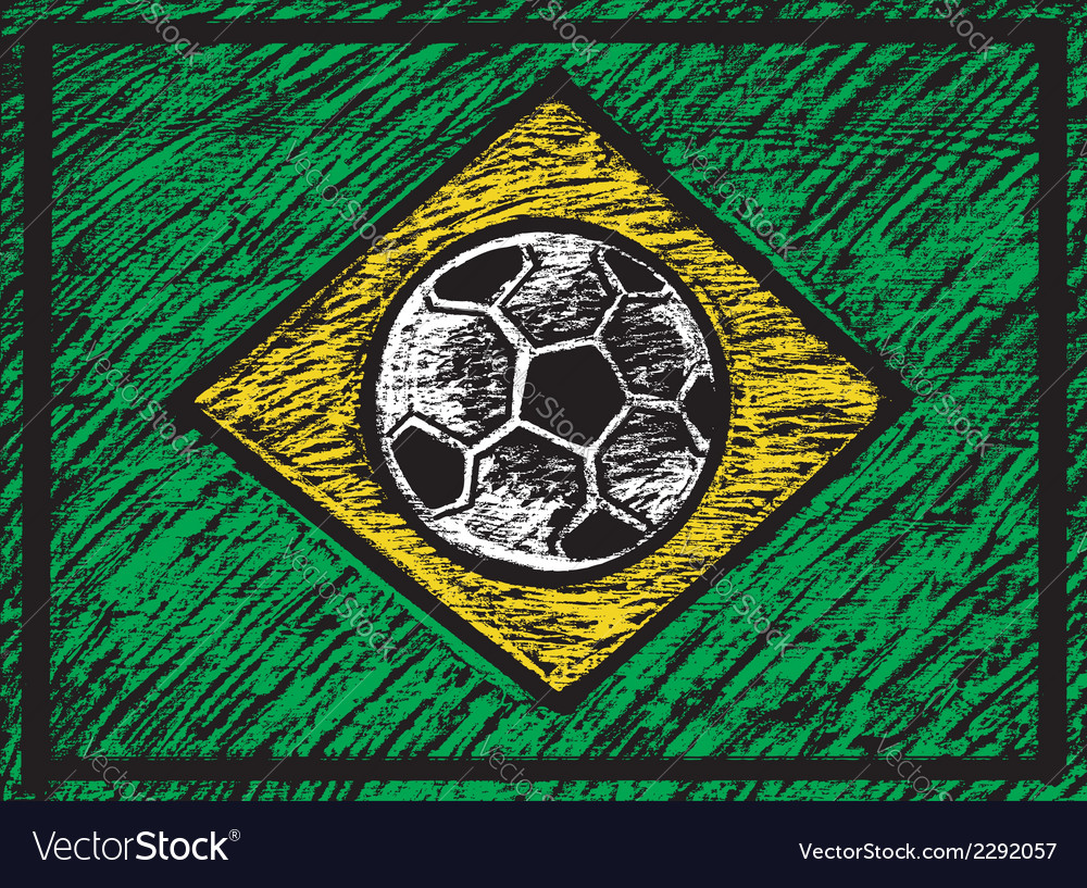 Chalked brasilian composition vector | Price: 1 Credit (USD $1)