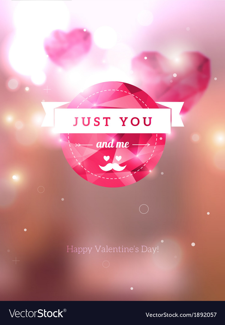 Diamond texture valentine card vector | Price: 1 Credit (USD $1)