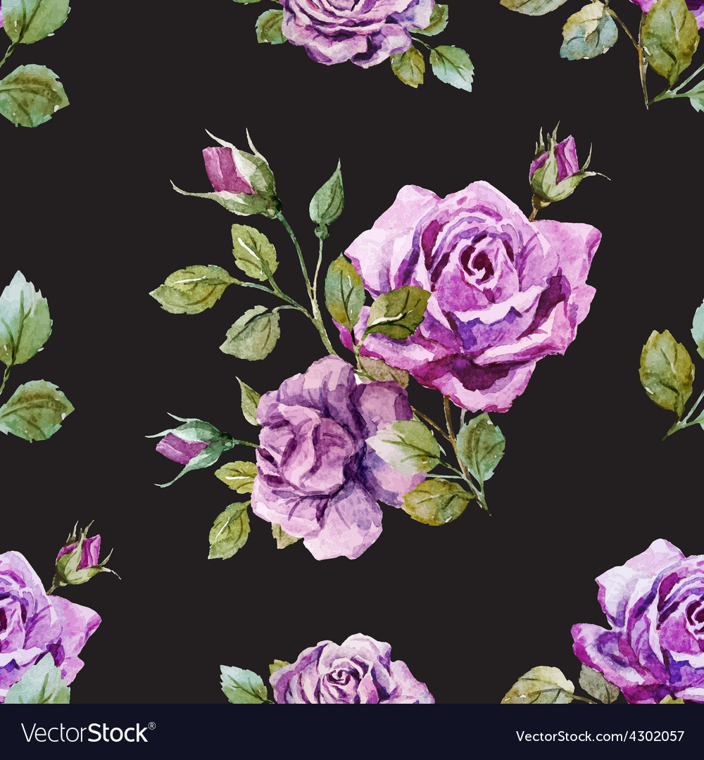 Gentle roses pattern vector | Price: 1 Credit (USD $1)