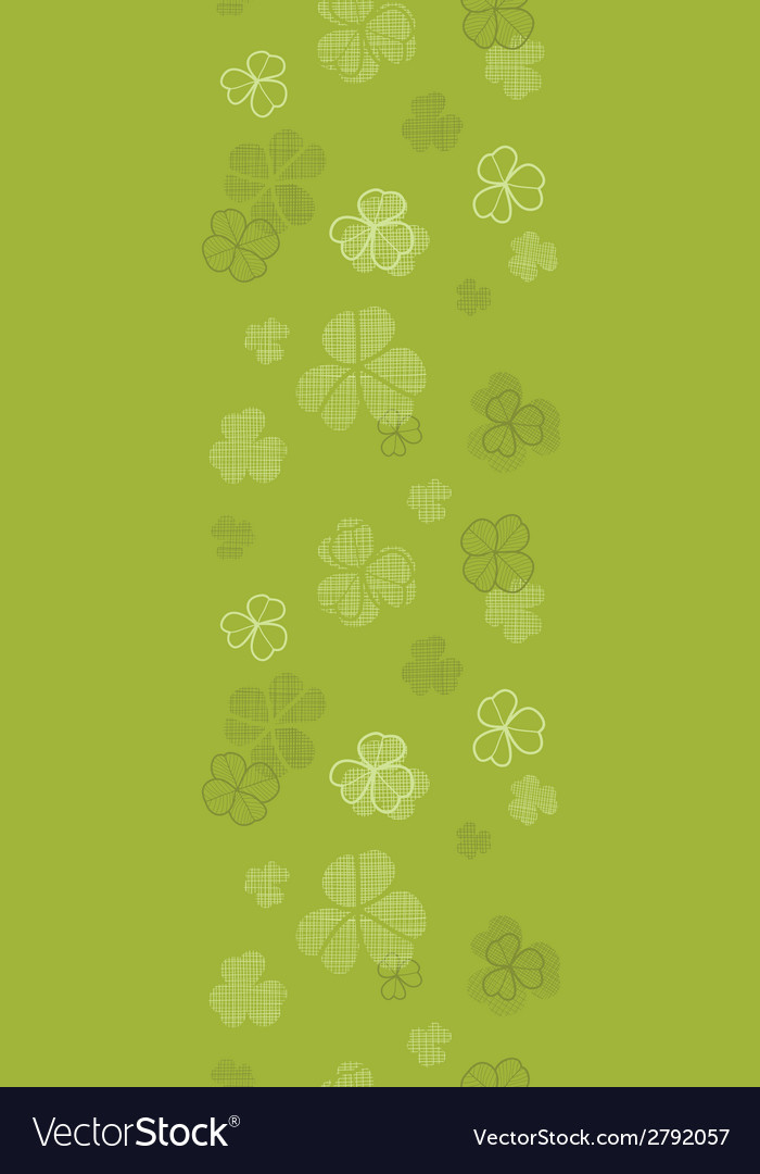 Green clover textile texture horizontal border vector | Price: 1 Credit (USD $1)