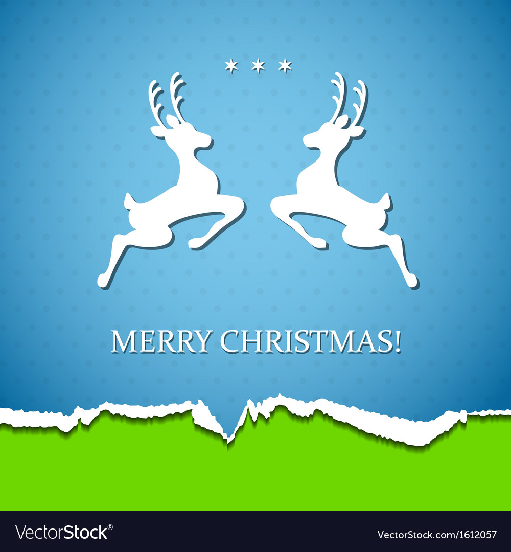 Holiday background with deer vector | Price: 1 Credit (USD $1)