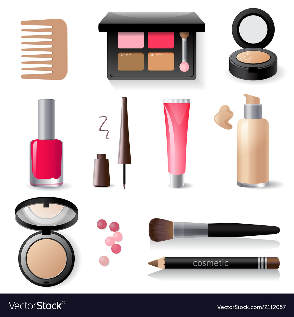 Make-up icon set vector | Price: 1 Credit (USD $1)