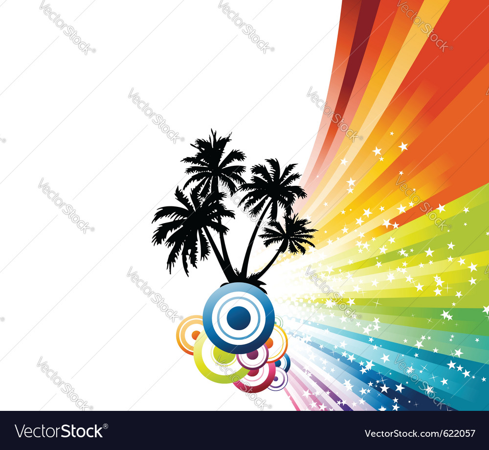 Palm advertisement vector | Price: 1 Credit (USD $1)