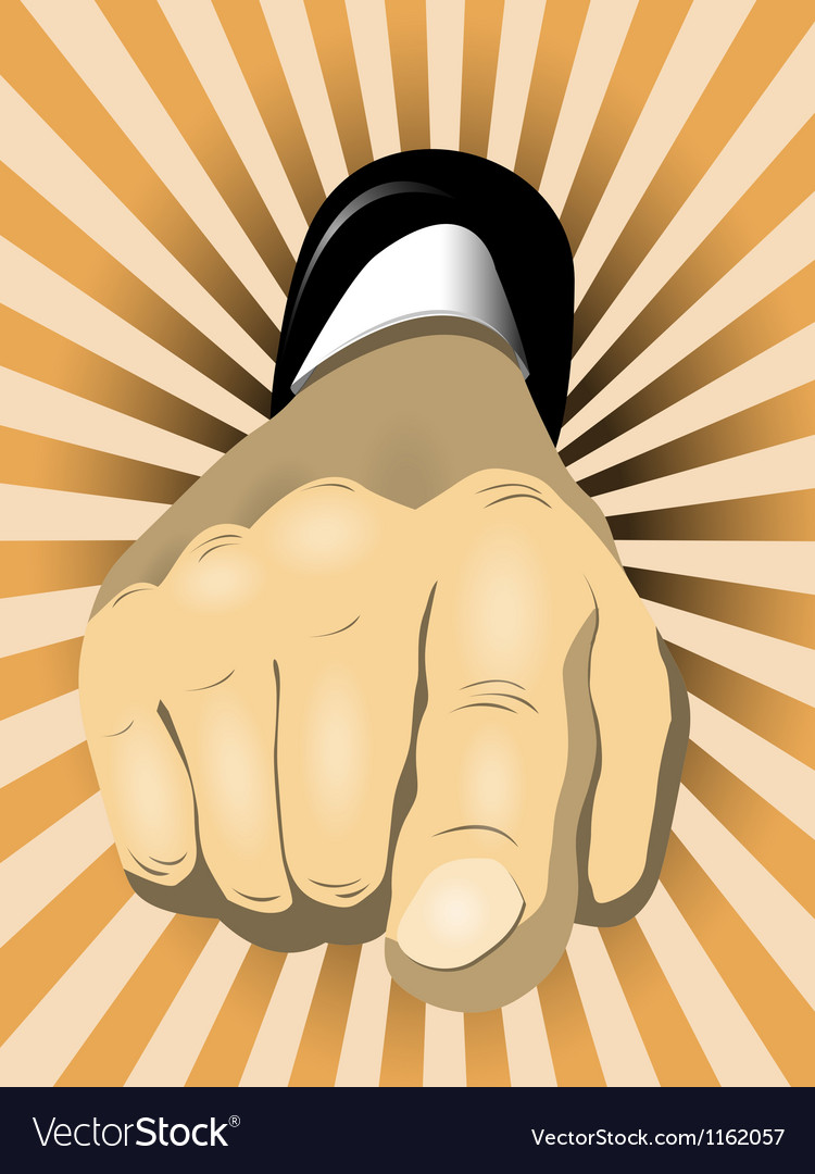 Pointing finger vector | Price: 1 Credit (USD $1)