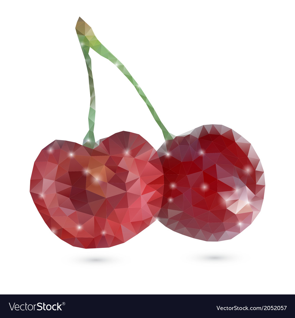 Polygonal cherry vector | Price: 1 Credit (USD $1)