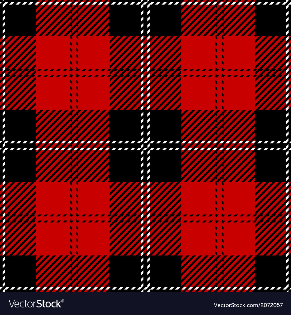 Red scottish seamless tartan plaid vector | Price: 1 Credit (USD $1)