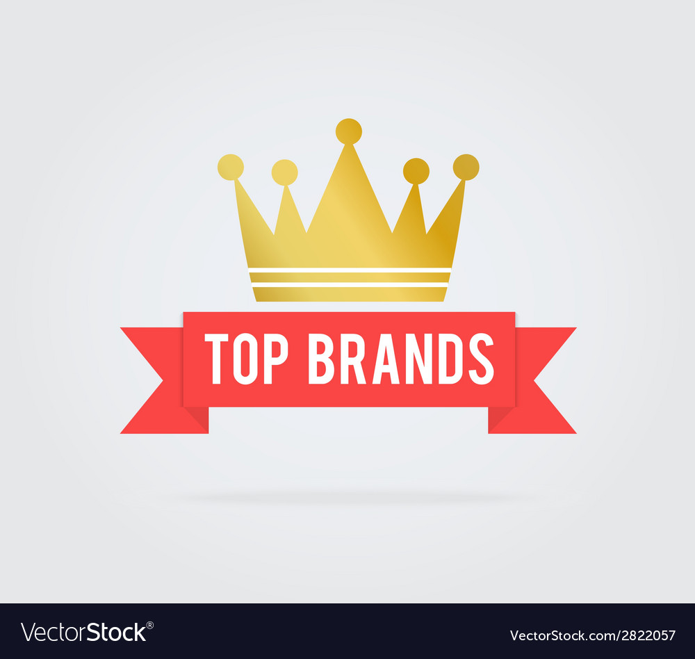 Top brand card tag vector | Price: 1 Credit (USD $1)