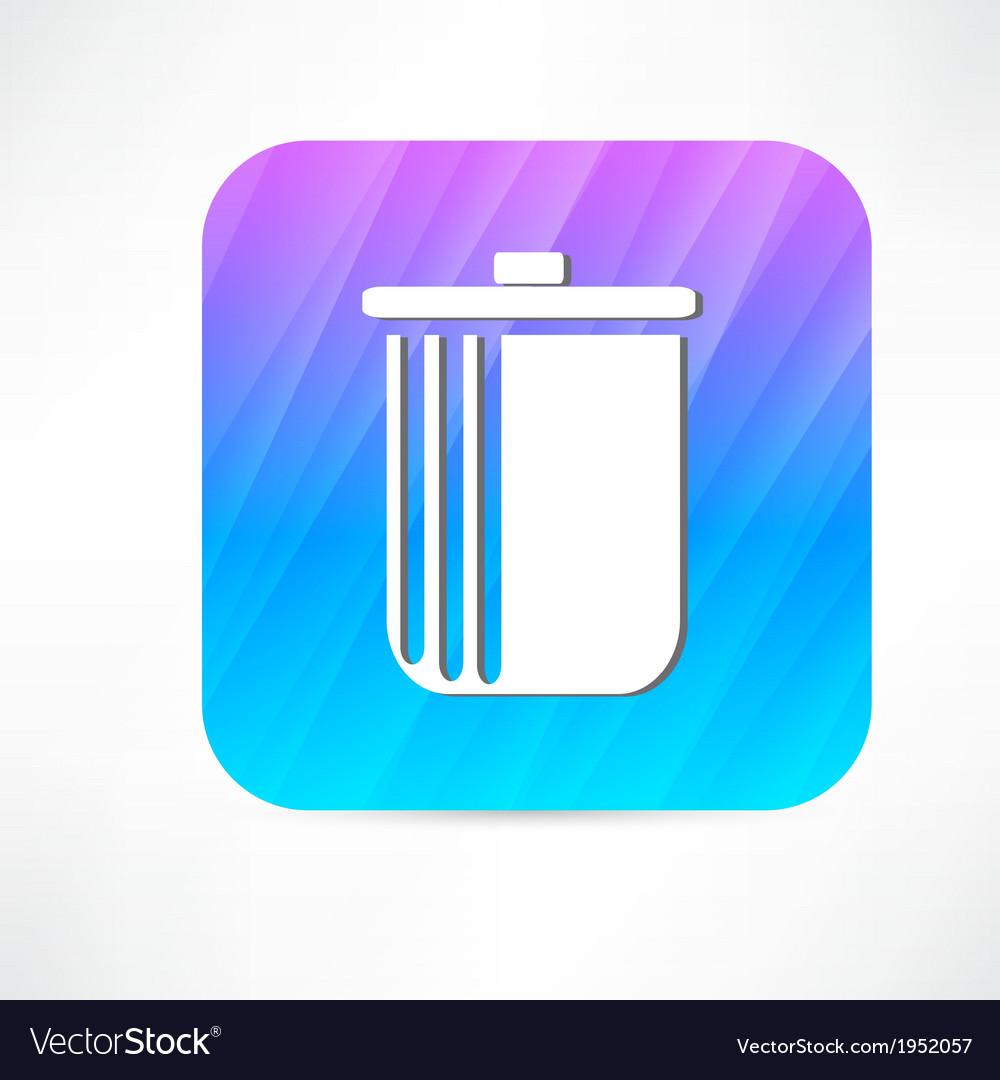 Trash icon vector | Price: 1 Credit (USD $1)