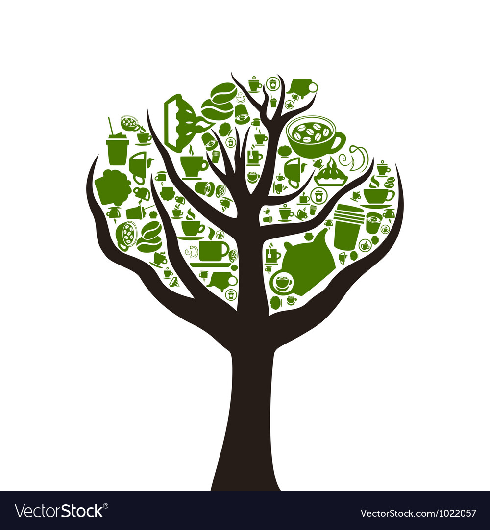 Tree food2 vector | Price: 1 Credit (USD $1)