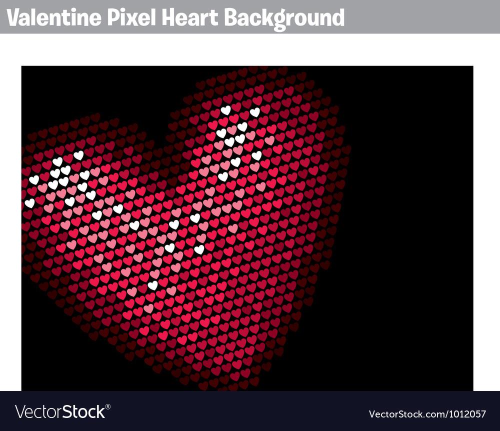 Valentine pixel heart background vector | Price: 1 Credit (USD $1)