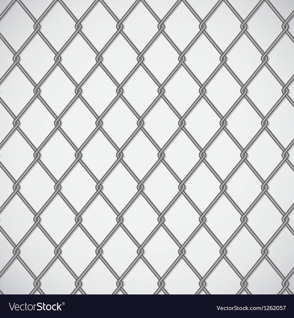 Wire fence on white background vector | Price: 1 Credit (USD $1)