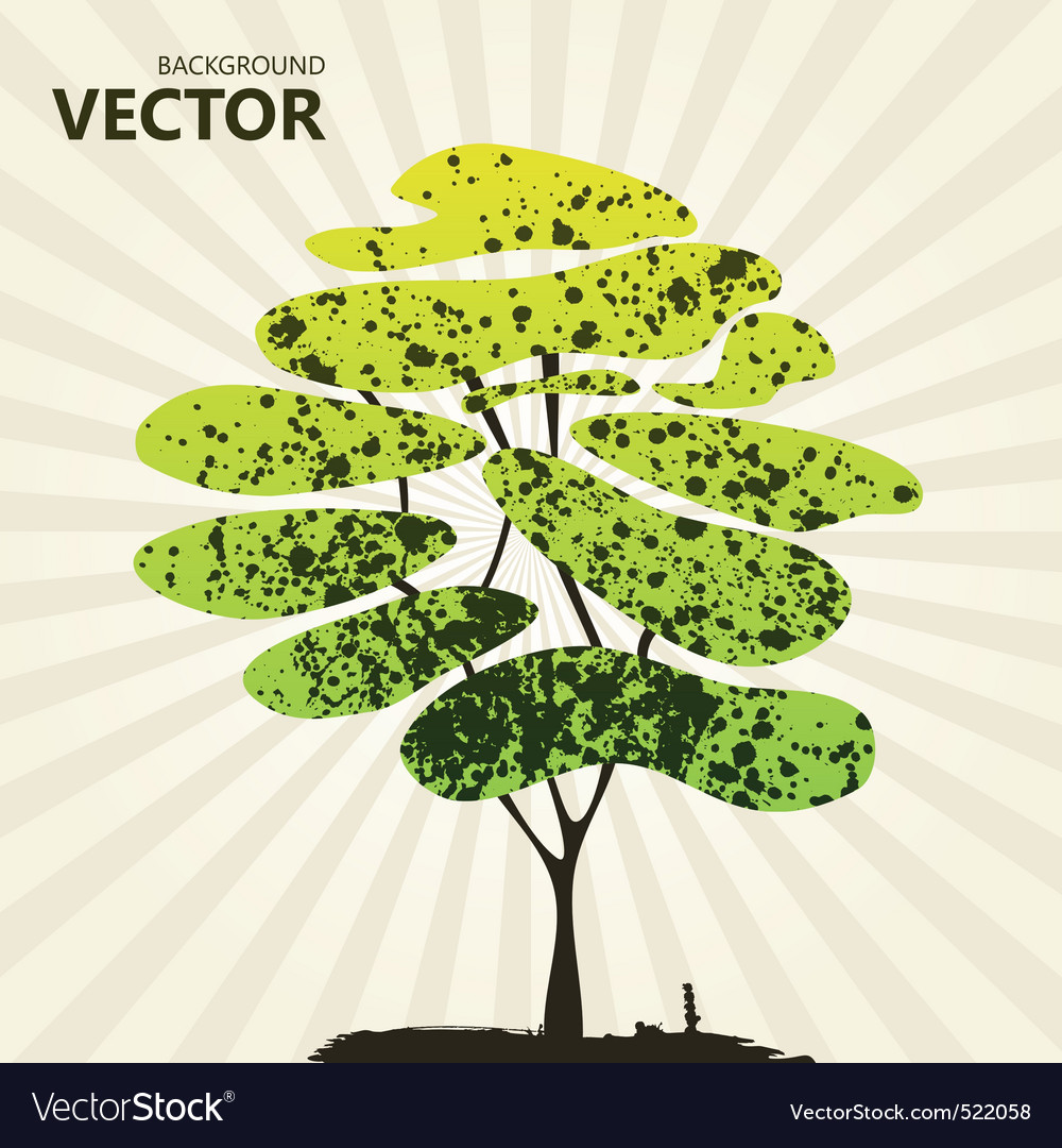 Abstract color tree background green vector | Price: 1 Credit (USD $1)