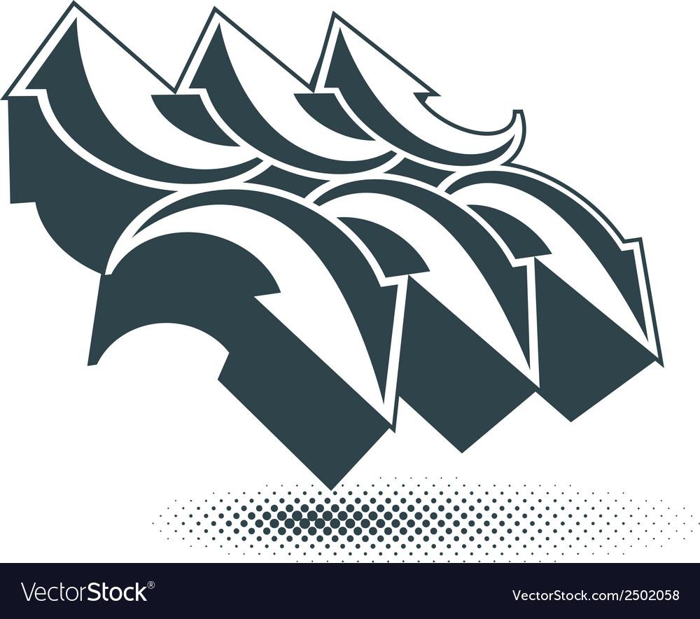 Arrows abstract symbol conceptual special made vector | Price: 1 Credit (USD $1)