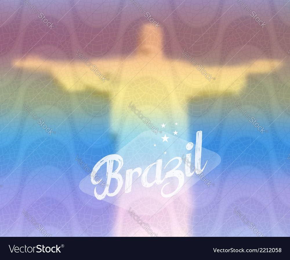 Brazil monument tourism concept vector | Price: 1 Credit (USD $1)