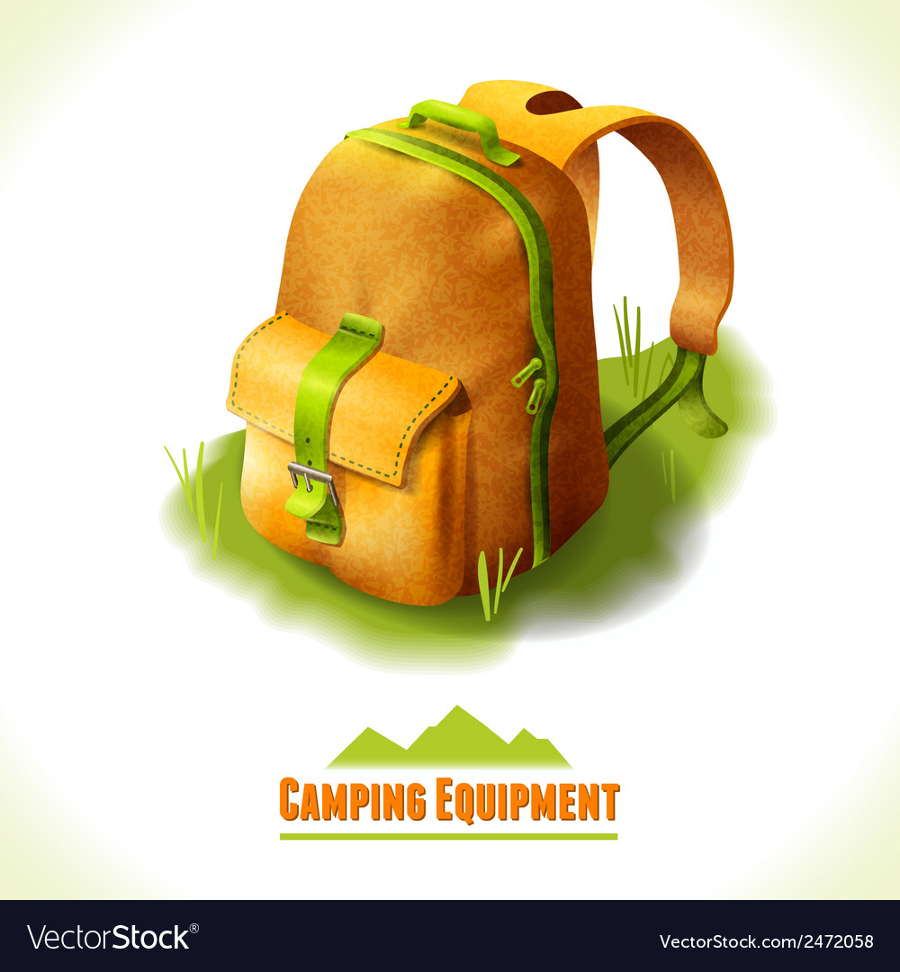 Camping symbol backpack vector | Price: 1 Credit (USD $1)