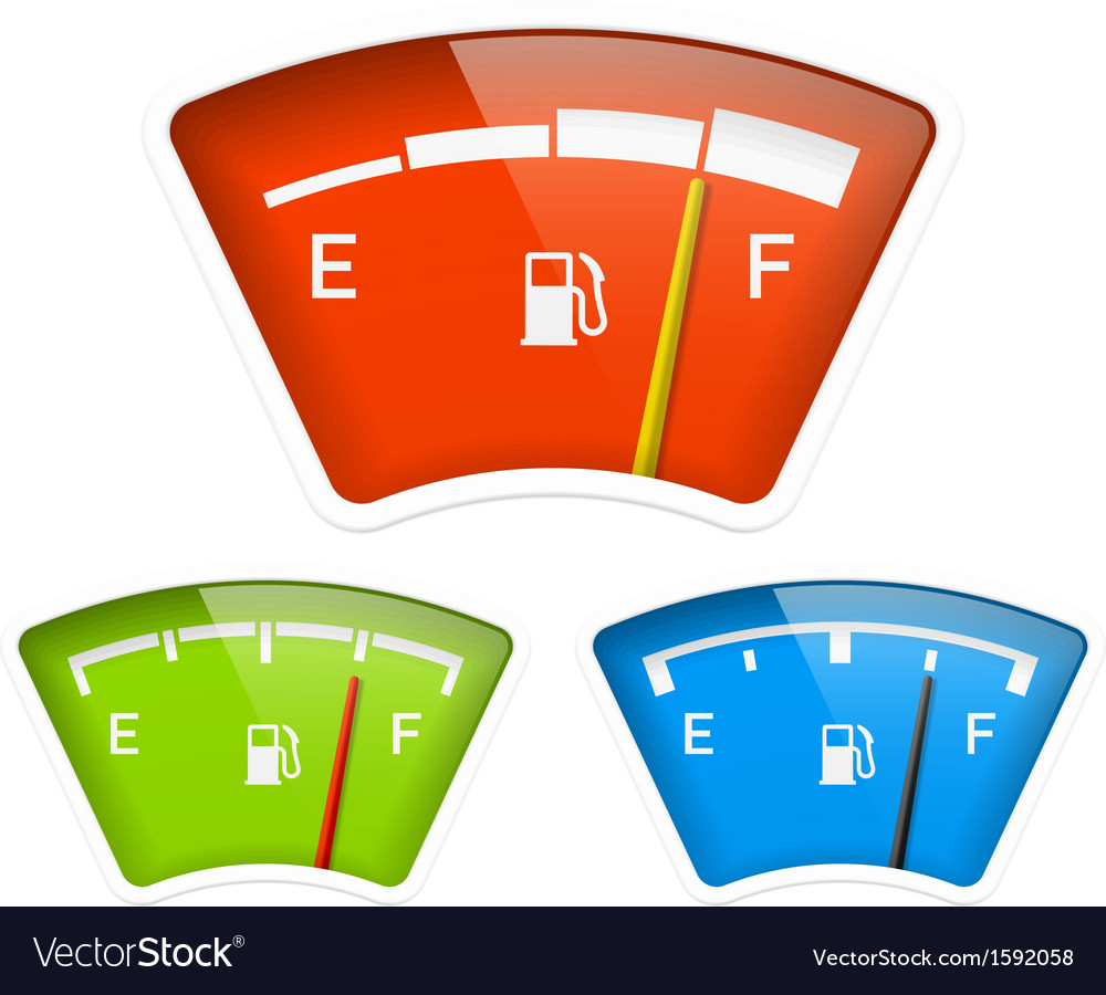 Fuel indicator vector | Price: 1 Credit (USD $1)