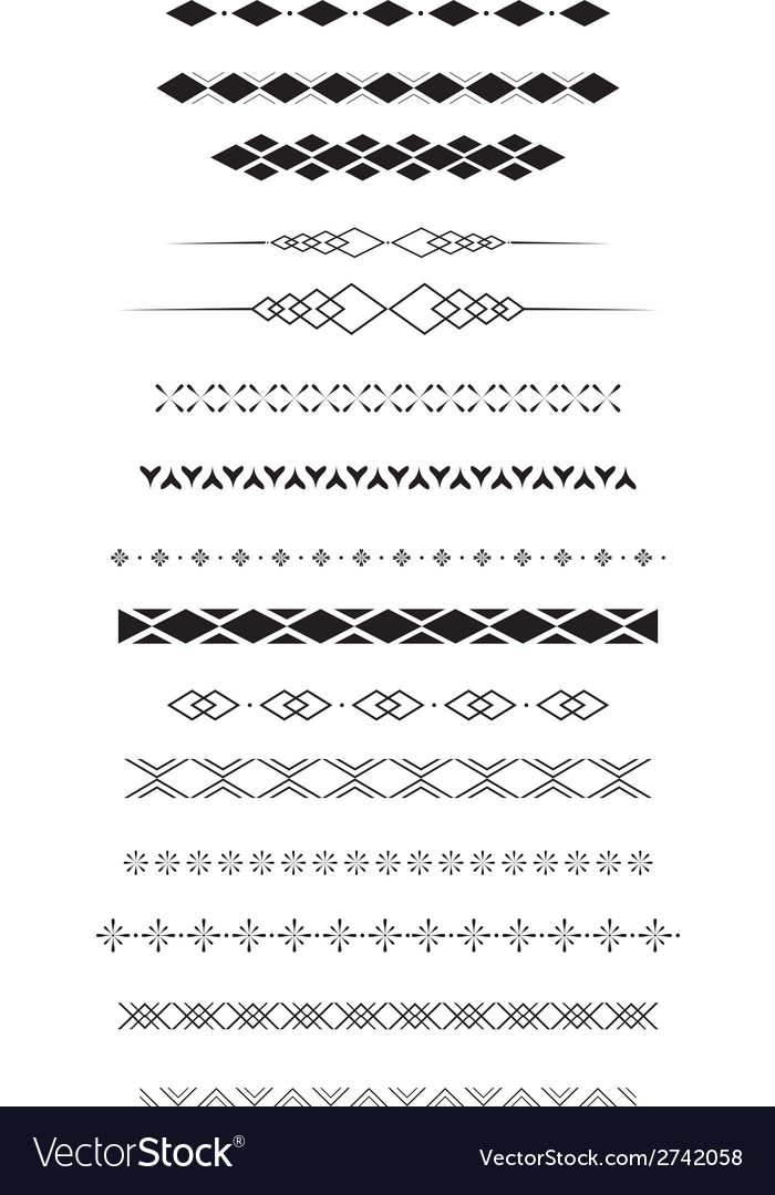 Geometric text dividers vector | Price: 1 Credit (USD $1)