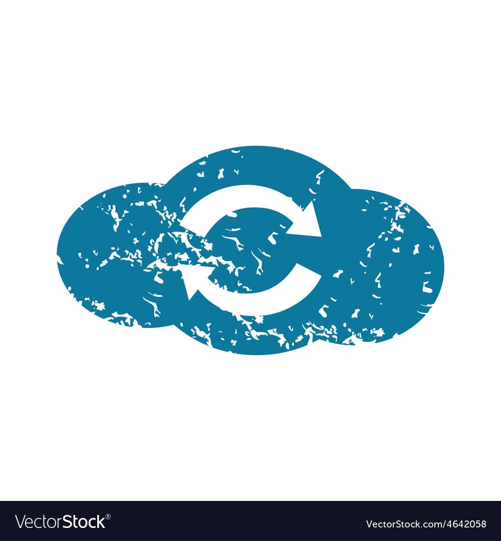 Grunge cloud exchange icon vector | Price: 1 Credit (USD $1)
