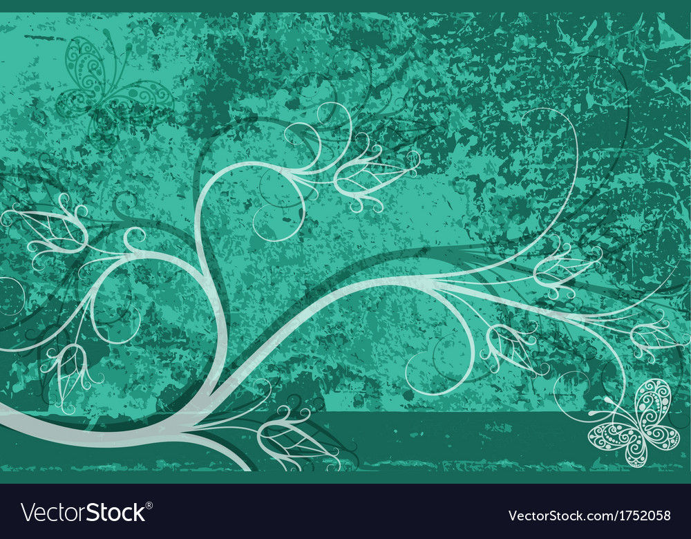 Grungy turquoise card vector | Price: 1 Credit (USD $1)