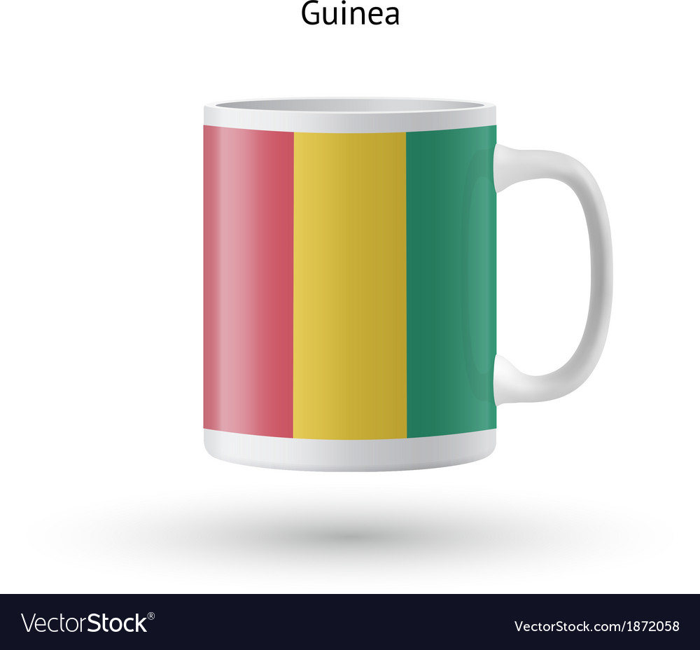 Guinea flag souvenir mug on white background vector | Price: 1 Credit (USD $1)