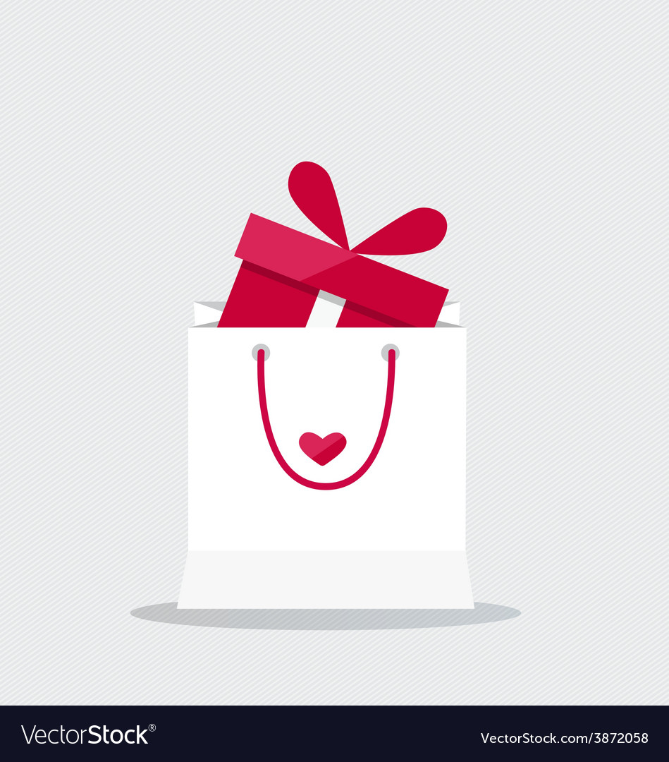 Happy valentines day valentines day gift bag with vector | Price: 1 Credit (USD $1)