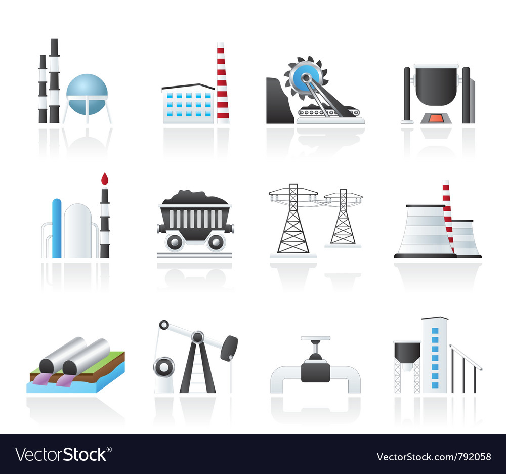 Heavy industry icons vector | Price: 3 Credit (USD $3)