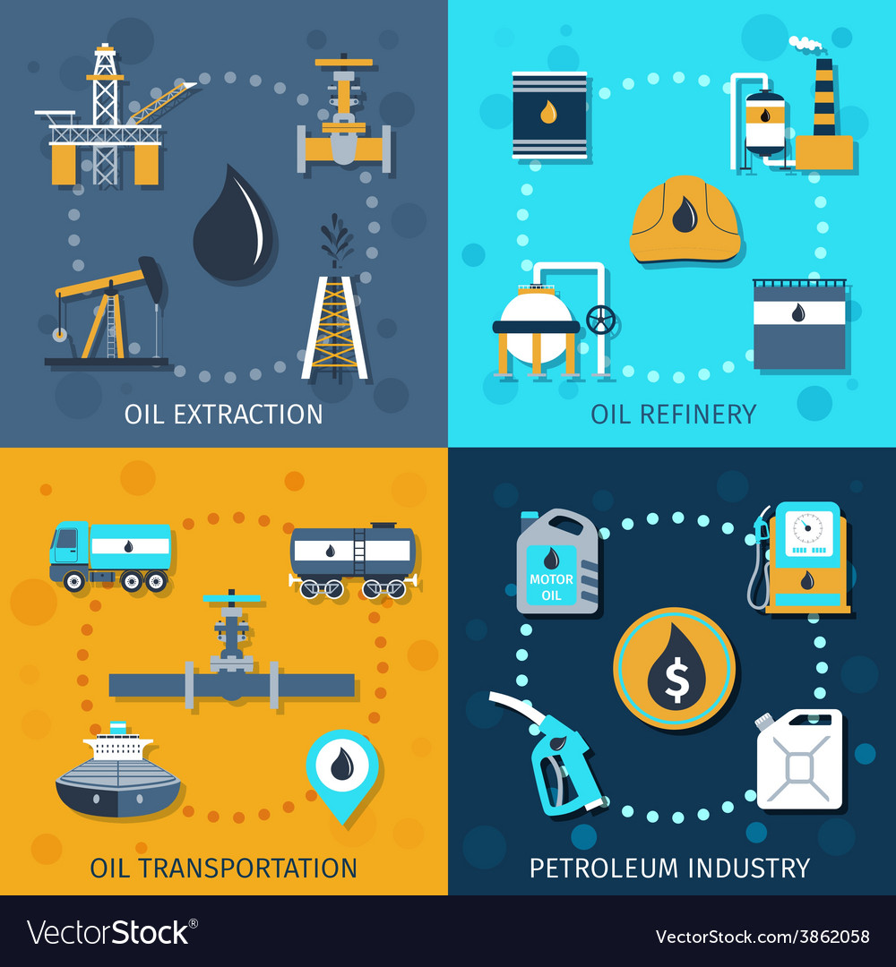 Oil industry set vector | Price: 1 Credit (USD $1)
