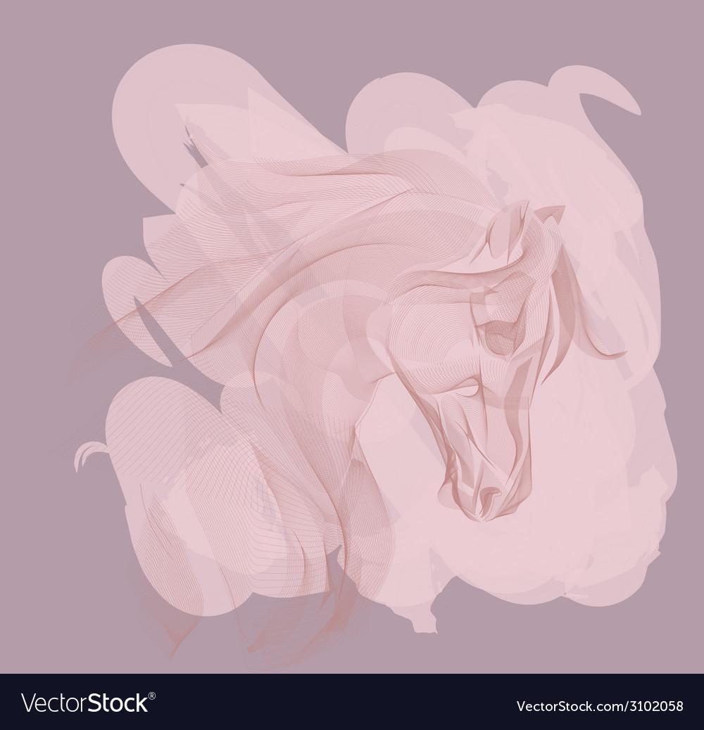 Ornamental horse vector   Price: 1 Credit (USD $1)
