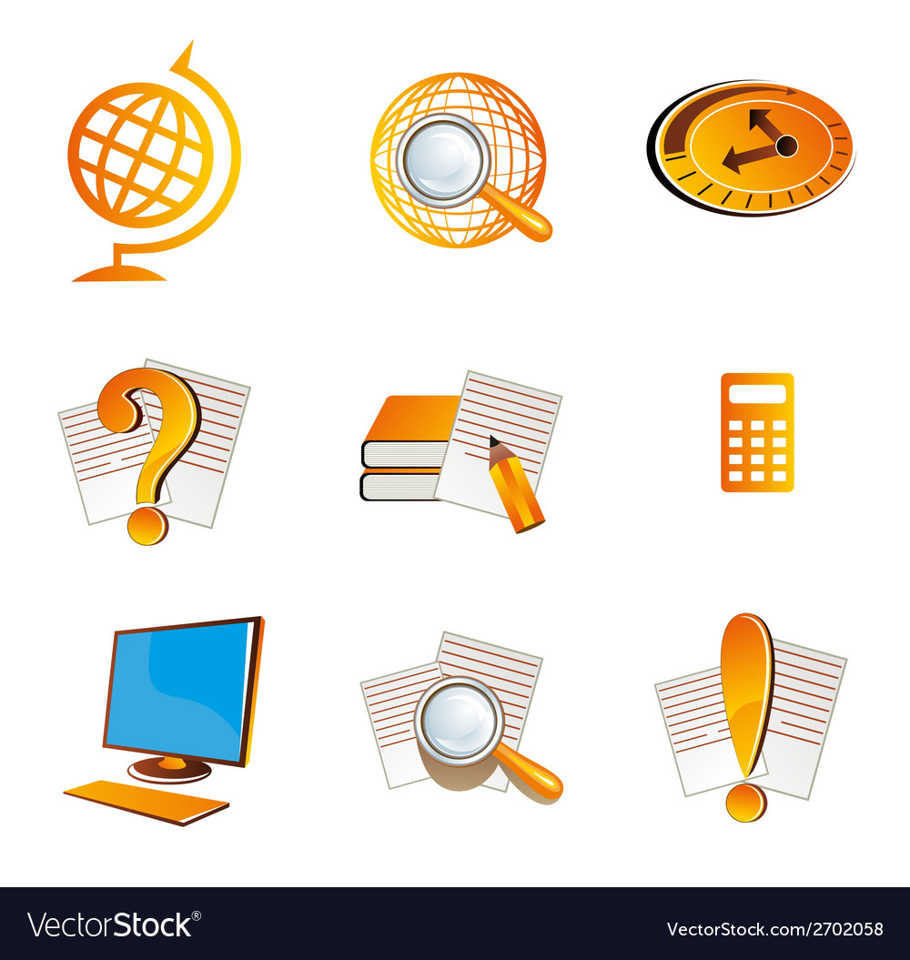 School and education icons symbol vector | Price: 1 Credit (USD $1)