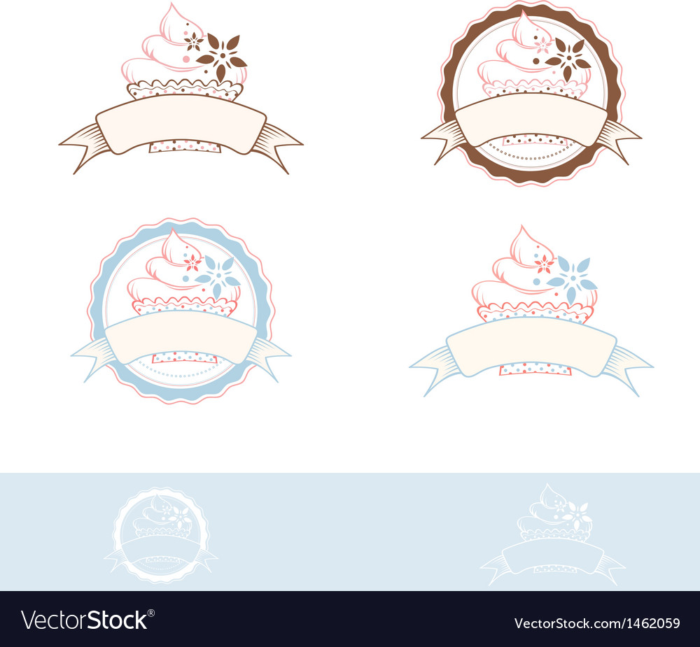Cake emblem vector | Price: 1 Credit (USD $1)