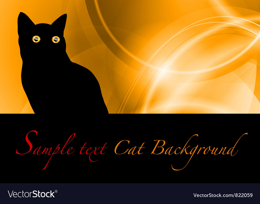 Cat black background vector | Price: 1 Credit (USD $1)