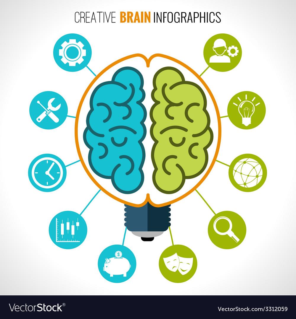 Creative brain infographics vector | Price: 1 Credit (USD $1)