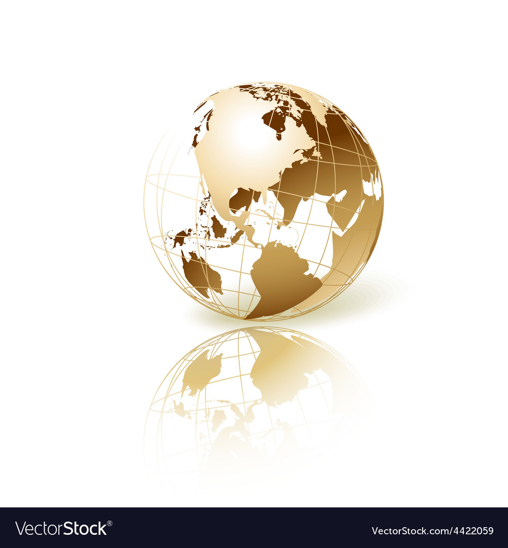 Golden globe vector | Price: 1 Credit (USD $1)