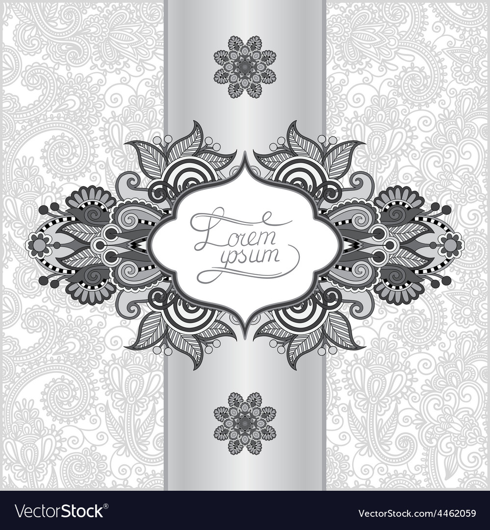 Grey floral ornamental template with place for vector | Price: 1 Credit (USD $1)