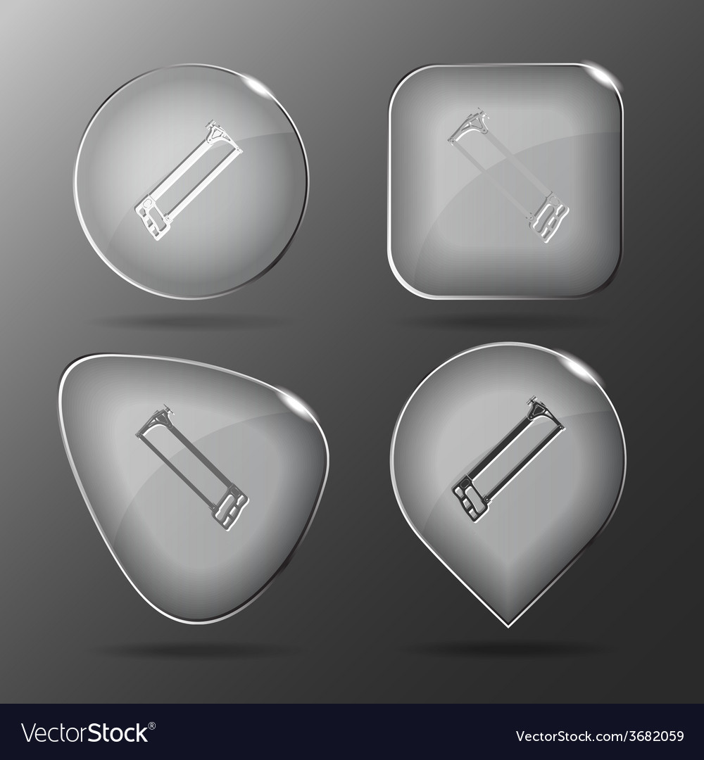 Hacksaw glass buttons vector | Price: 1 Credit (USD $1)