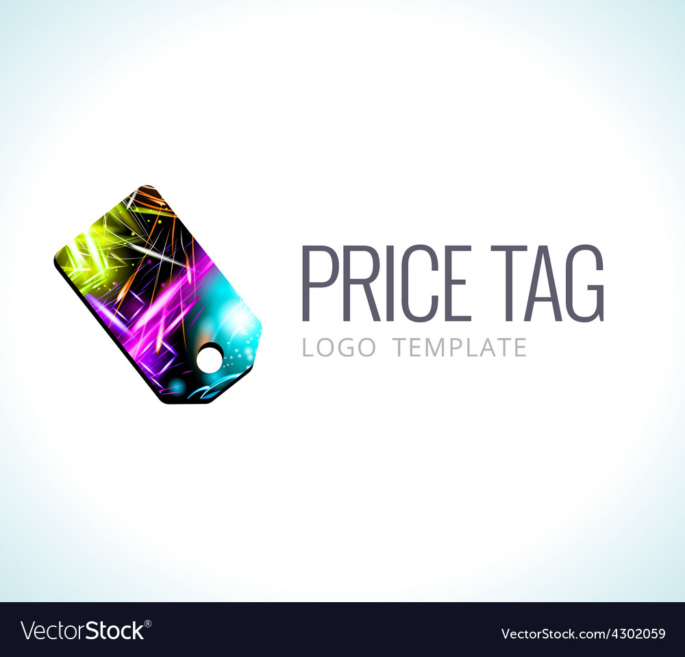 Logo template price tag vector | Price: 1 Credit (USD $1)