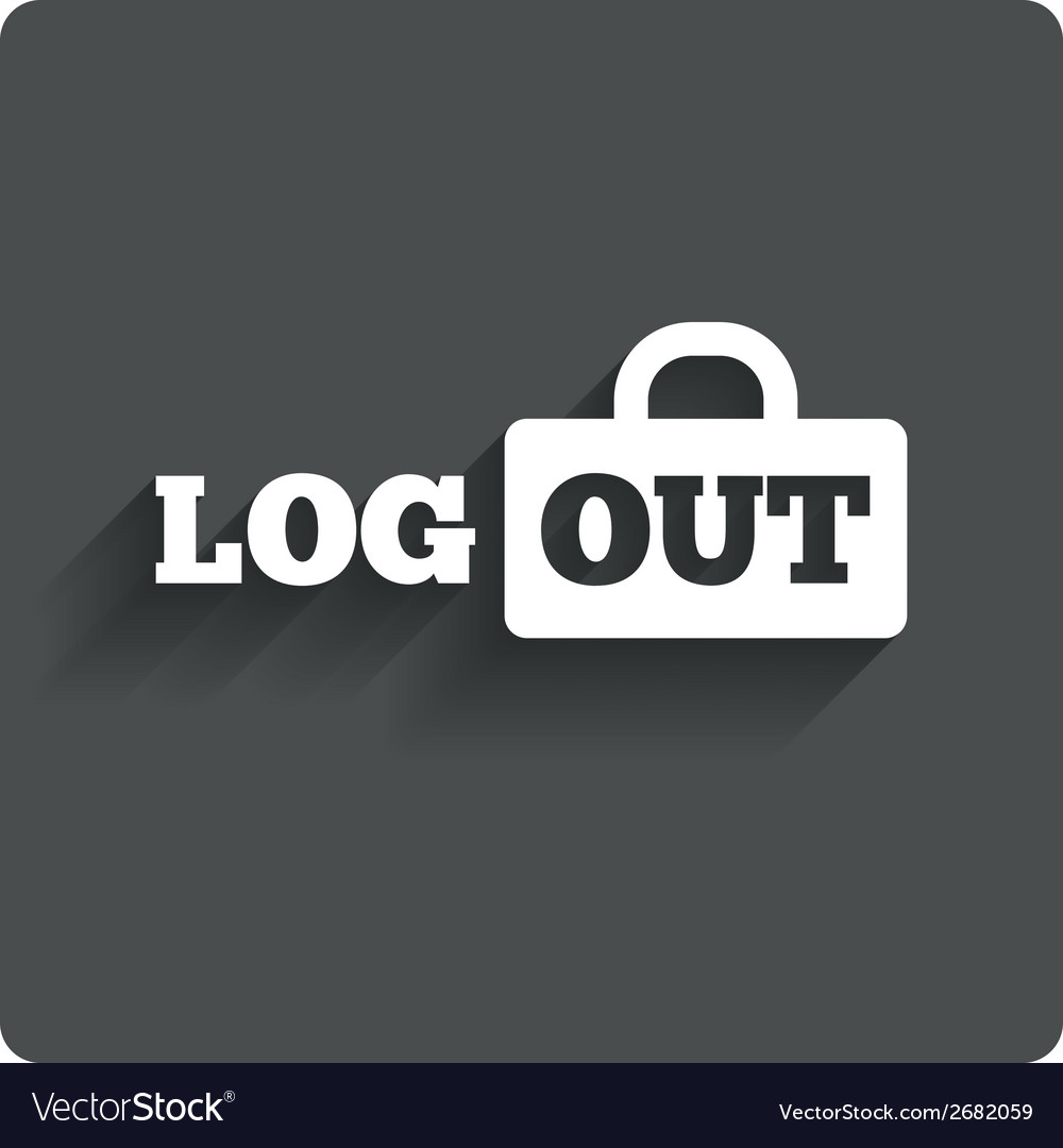 Logout sign icon log out symbol lock vector | Price: 1 Credit (USD $1)