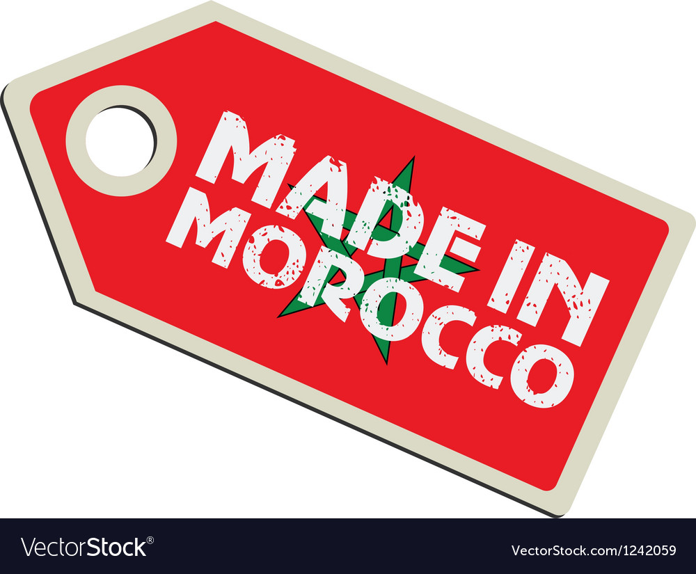 Made in morocco vector | Price: 1 Credit (USD $1)