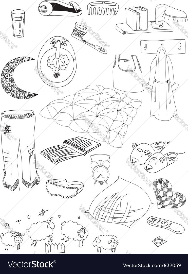 Objects on a dream vector | Price: 1 Credit (USD $1)