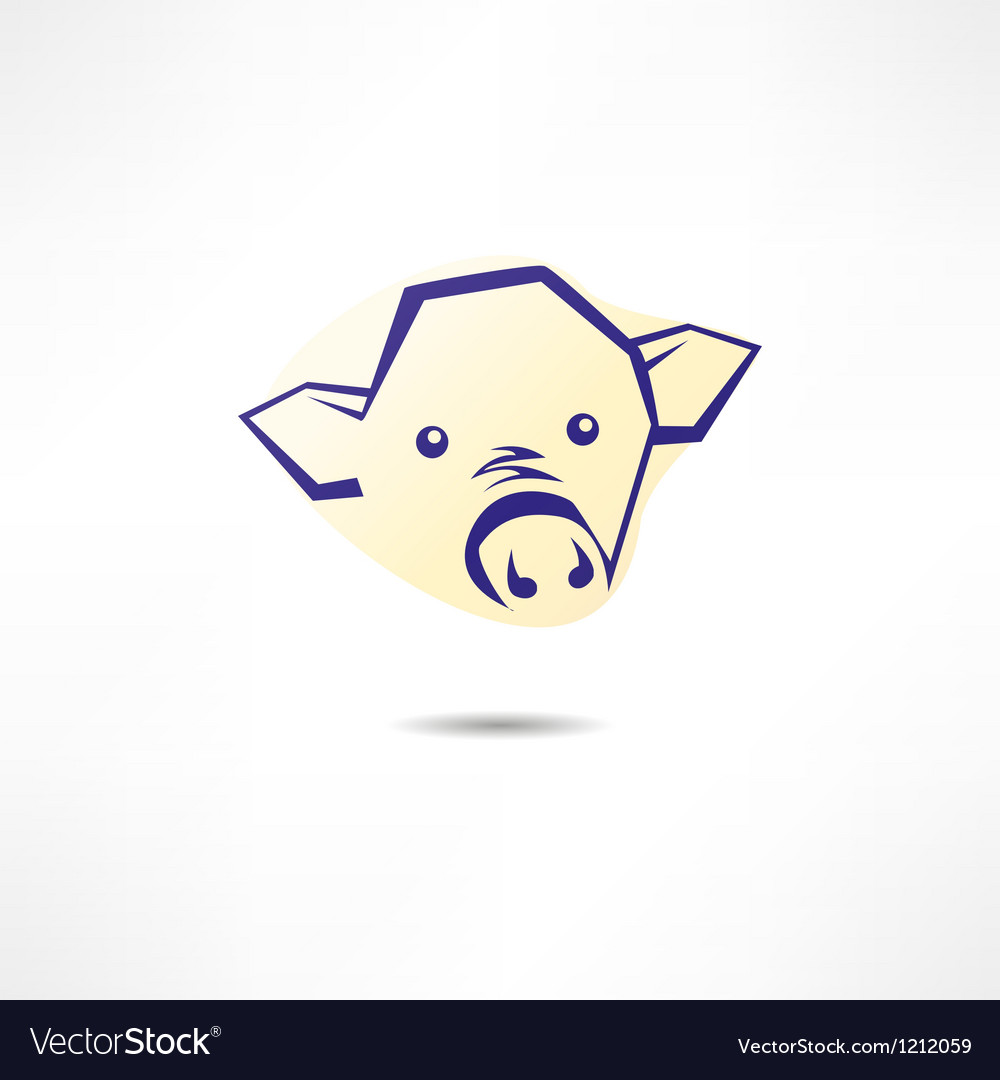 Pig face logo vector | Price: 1 Credit (USD $1)