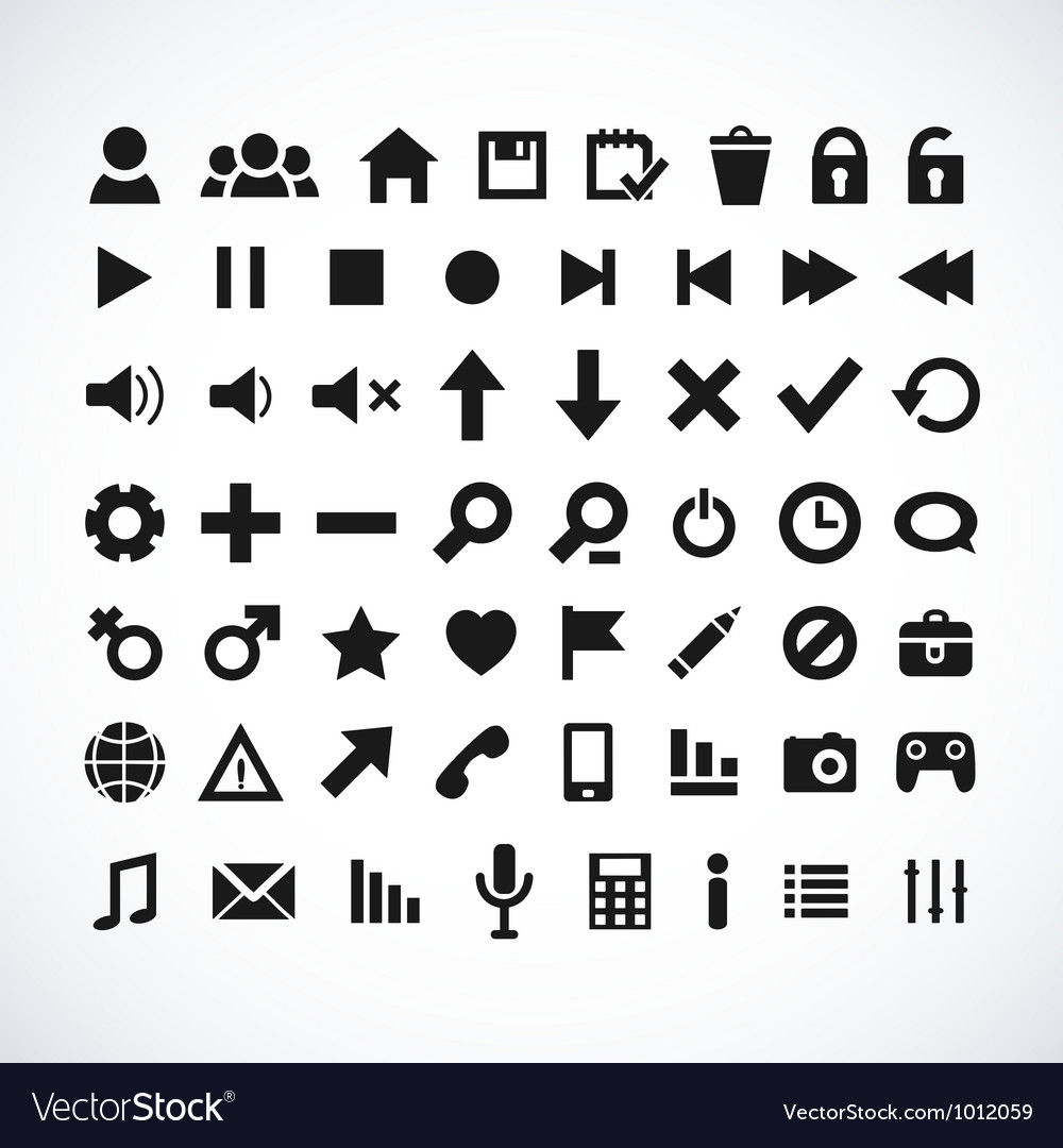 Silhouette web icons vector | Price: 1 Credit (USD $1)