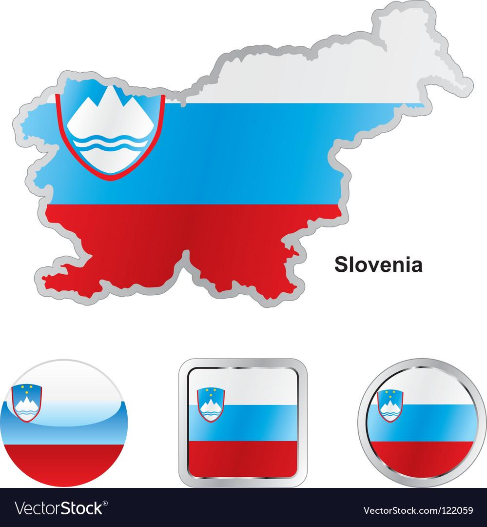 Slovenia vector | Price: 1 Credit (USD $1)