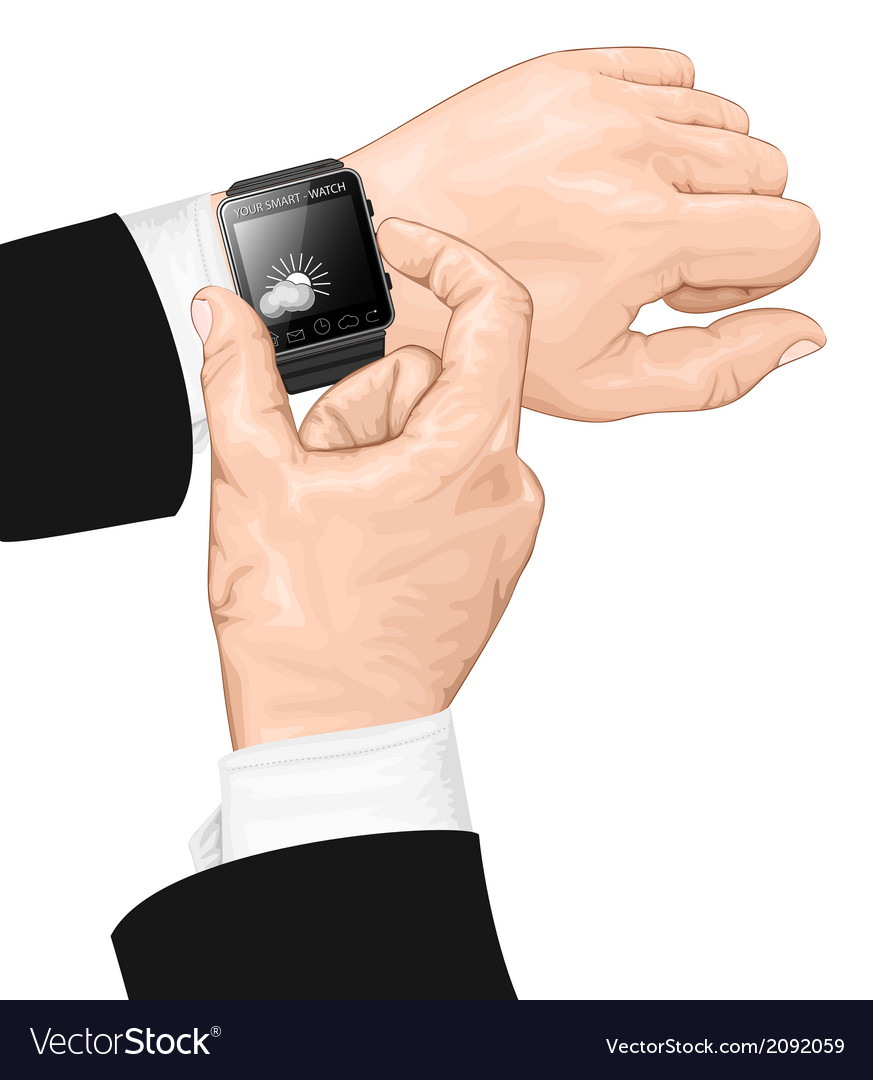 Smart watch gesture vector | Price: 1 Credit (USD $1)