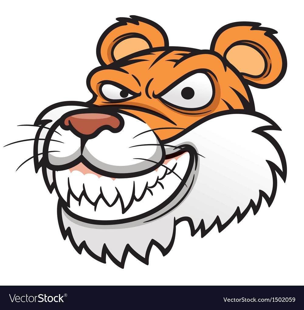 Tiger head vector | Price: 3 Credit (USD $3)
