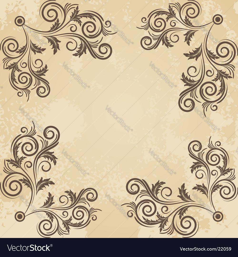 Vintage grunge beige frame vector | Price: 1 Credit (USD $1)