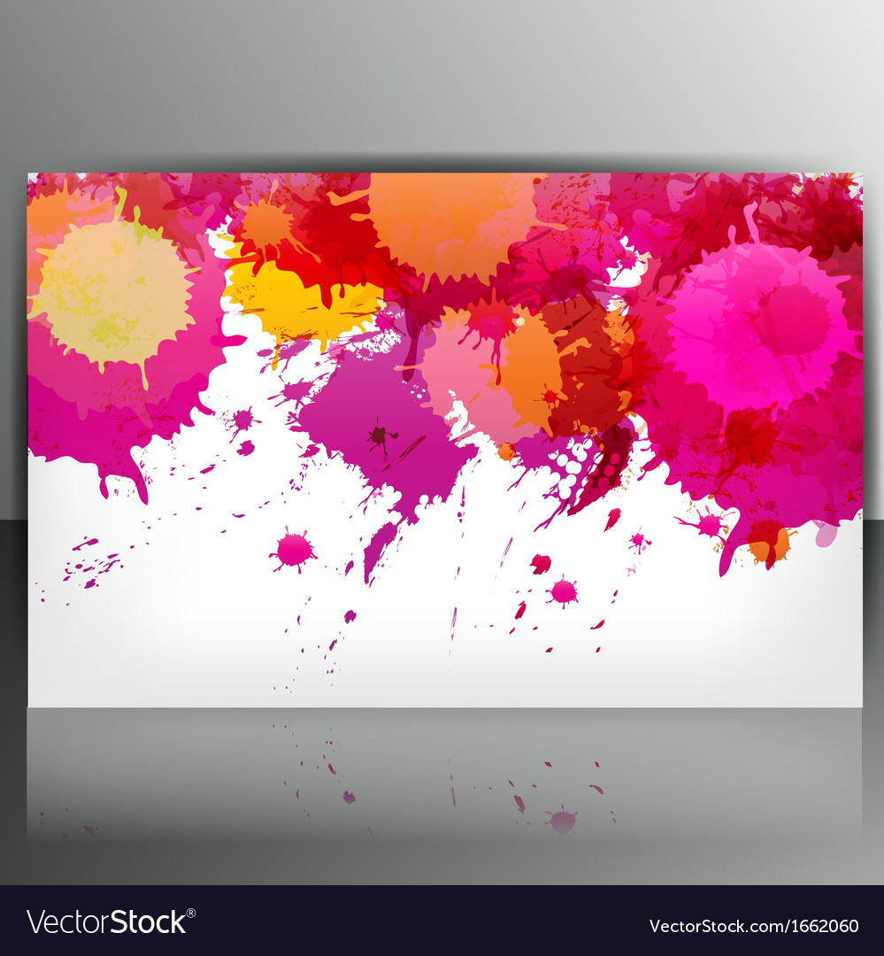 Banner with splash on abstract background vector | Price: 1 Credit (USD $1)