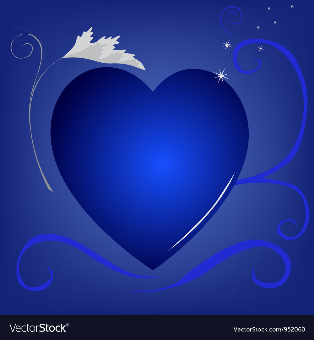 Blue heart background vector | Price: 1 Credit (USD $1)