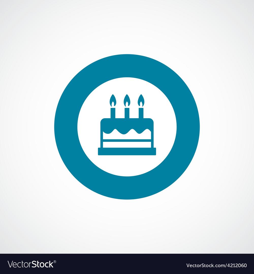 Cake icon bold blue circle border vector | Price: 1 Credit (USD $1)