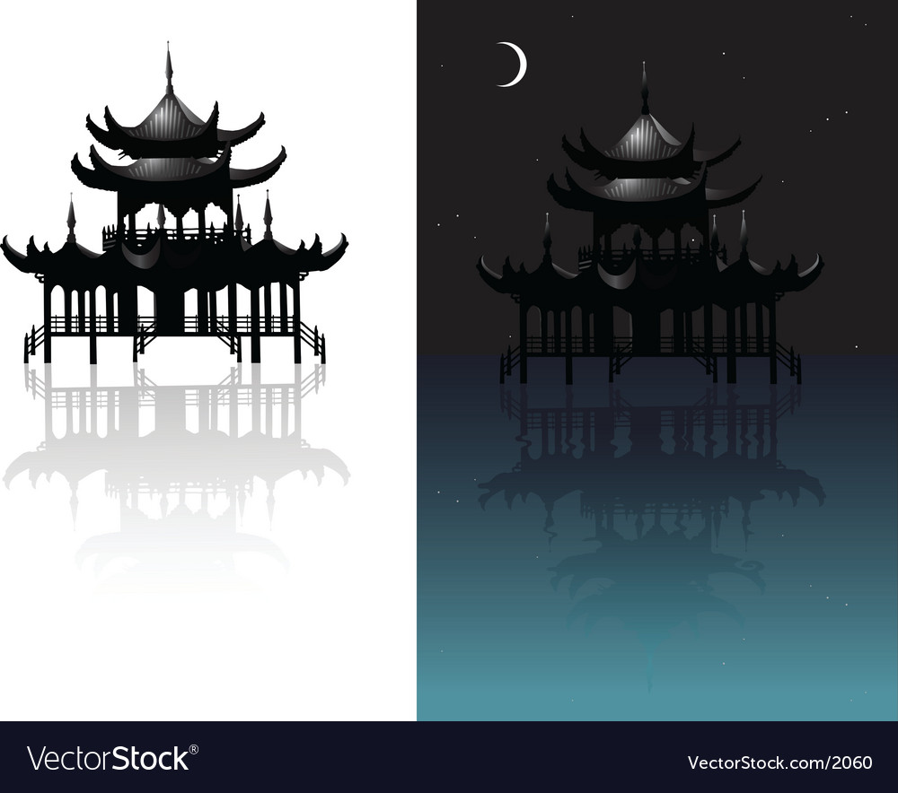Chinese temple vector | Price: 1 Credit (USD $1)